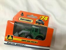 FACTORY SEALED MATCHBOX #74 Shovel Nose Tractor green IH John Deere