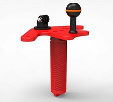 ScubaLamp TG15 Pistol Grip for Underwater Camera Gopro Mount Flex Arms RED