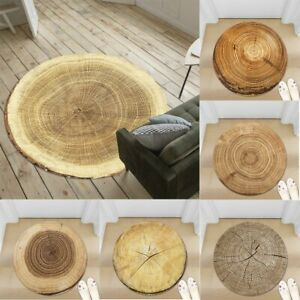 3D Tree Lines Round Area Rug Carpet Bedroom Living Room Chair Mat Home Decor