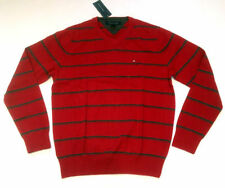 Tommy Hilfiger Men's Medium Knit V Neck Cotton Jumpers & Cardigans