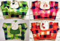 Sari Saree Blouse party wear Indian Bollywood Stitched Choli Top Readymade  GJ 0f08047f008