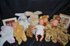 Large Lot of Anne Geddes Dolls and Others