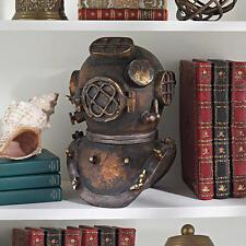 Antique Replica Diving Helmet Antique Brass Finish Nautical Deep Sea Sculpture