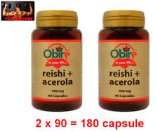 REISHI GANODERMA + ACEROLA 400 Mg -180 Cpr - ANTIVIRALE ANTISTRESS ANTIBATTERICO
