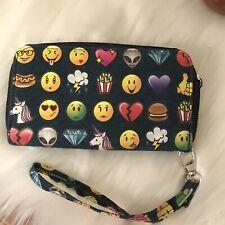 Emoji Face French Fries Alien Zip Wallet Wristlet