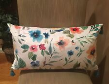 Pretty Floral Watercolor Lumbar Decorative Accent Pillow - 425 South Los Angeles