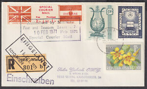 Special Courier Mail to Overseas; Austria Registered; 1971 Postal Strike; A