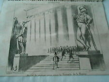 HD 3538 Daumier 1851 - Project statues for adorn the Peristile the scholarship