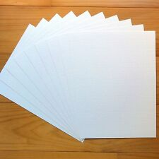 """PREMIUM BLANK 280 GSM A5 CARD x 20 SHEETS """"HAMMER WHITE"""" - NEW"""
