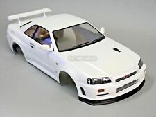 1/10 RC Car BODY Shell NISSAN SKYLINE R34 190mm *FINISHED* WHITE