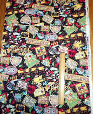 Mary Engelbreit Famous Art + Sayings Cotton Fabric - From 2002 - 1/2 yard