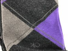 Men's CALVIN KLEIN black ARGYLE 61% COTTON Dress Socks - 4 Pack - $36 MSRP