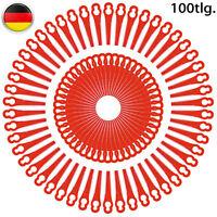 100 Lames en Plastique de Rechange pour Coupe Bordure ,Long 83mm