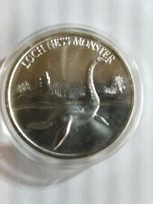 New listing Intaglio mint One Ounce Silver Round .999, Loch Ness Monster