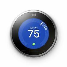 Nest Learning Thermostat 3rd Generation Stainless Steel | Brand New