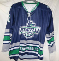 SEATTLE JR THUNDERBIRDS Game Used Worn AHA Hockey Jersey #68 Youth XL