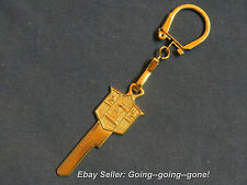 24KT GOLD PLYMOUTH MAYFLOWER CREST KEY BLANK & KEY CHAIN Y131 X1199G 1949-1955