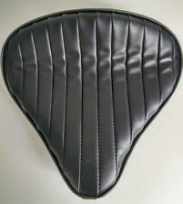 Large Custom Solo Seat Black Tuck n Roll to fit Harley Bobber Chopper Triumph