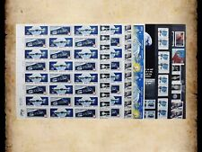 US Postage Stamps Face Value $42+ Unused Lot #128 Sheets Blocks Space