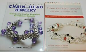 2 BEADING Books by Scott David Plumlee Chain and Bead Jewelry & Connections