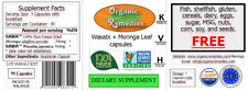 Pure Wasabi and Moringa Leaf 10:1 Capsules (270) 3 jars - Kosher, Halal, Vegan