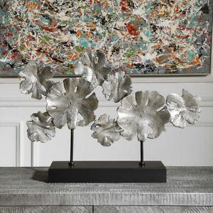 "CONTEMPORARY ART DESIGNER XXL 26"" LOTUS FLOWER INSPIRED STATUE SCULPTURE 17867"