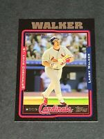 Larry Walker St. Louis Cardinals 2005 Topps Black #555 15/54
