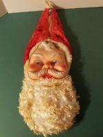 Vintage Christmas Santa Rubber Face Stocking Mid-Century BIJOU TOYS 1950-60s MCM