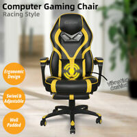 Video Gaming Chairs Racing Ergonomic Office Desk Seat Recliner Swivel Vibration