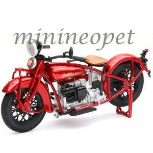 NEW RAY 58223 1930 INDIAN 4 MOTORCYCLE 1/12 RED