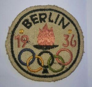 rare écusson jeux olympiques BERLIN1936