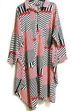 Chinese Brand Red Black White Loose Shirt Dress