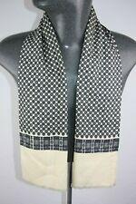 Vintage  Pure Silk Wool Blend Mod Scarf retro mens womens cravat foulard *1267