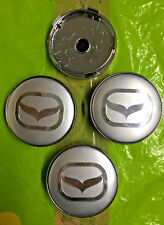 Tapa Centro De Rueda Mazda 60mm Plata/Silver Conjunto de 4 Tapacubos logotipo e insignia emblema 3D