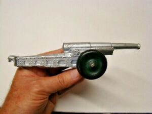 Vintage Toy Infantry Metal Cannon Rubber Wheels Made in USA 8 inches