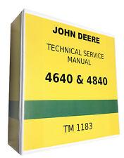 4640 John Deere Technical Service Shop Repair Manual 1151 Pages!