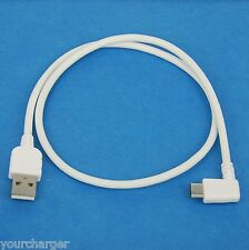 0.5M 50cm USB 2.0 Type C Right Angle Cable WHITE for Google Pixel XL Nexus 5X 6P