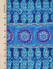 The Painted Garden Heather FREE SPIRIT 100% Cotton Fabric priced by the 1/2 yard