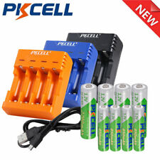 4x AA / AAA Rechargeable Battery Low Self-Discharge 1.2V NIMH + 4 Slot Charger