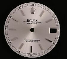 Factory Rolex Mid Size Datejust 31mm Silver Roman Track Stick Marker Dial-178274