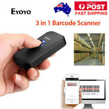 Pocket 2.4G Wireless & Wired & Bluetooth Barcode Scanner for IOS Android Win AU!