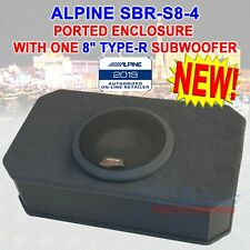 """SBR-S8-4 ALPINE 8"""" SUB SINGLE PORTED ENCLOSURE LOADED WITH TYPE-R SUBWOOFER BOX"""