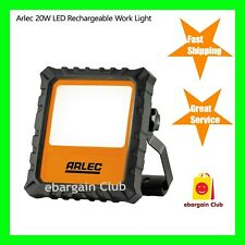 Arlec LED Rechargeable Work Light 20W 1400lmn 3-Modes, Portable+DC & Car Charger