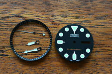 Black Dial Green Marker Dial Hands Ring Set made for SEIKO 7S26-0020 SKX DIVER