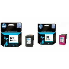 Brand New HP 121 Black  Tri Color Original Genuine Ink Cartridge Deskjet Print