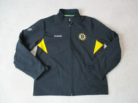 Reebok Boston Bruins Jacket Adult Medium Black Yellow NHL Hockey Coat Mens