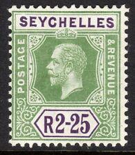 Seychelles1917 green/violet 2r.25c Die I multi-crown CA mint SG96