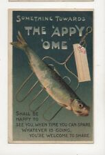 Something Towards The Appy Ome Fish [E306] 1921 Comic Postcard Birn Bros 253b