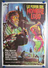 1975 Fury of the Wolfman Paul Naschy Spanish One Sheet Poster Furia Hombre Lobo