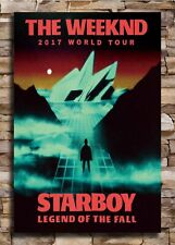 20x30 24x36 The Weeknd 2017 World Tour Starboy Music Fabric Poster HC2303